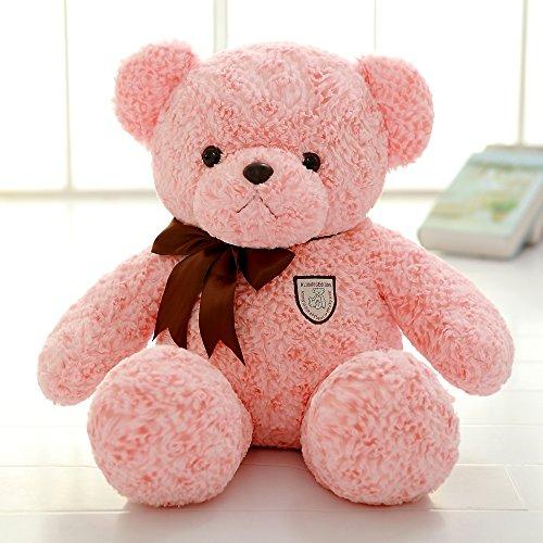 Roner Teddy Bear Cute Plush Stuffed Animal Toy Doll for Boys Girls Birthday Christmas Gift Pink 20 Inches (Bear Christmas Dressed Teddy)