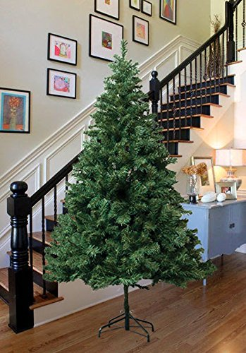 Amazon.com: Astella 7' Douglas Fir Hinged Artificial Christmas ...