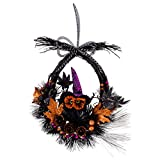 "DII Decorative Witchy Owl 17.5"" Haunted Wreath for Front Door or Indoor Wall Décor to Celebrate Halloween"