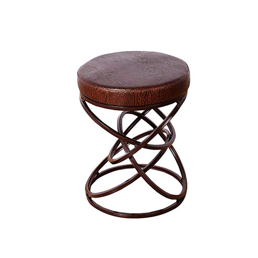 A LUHEN Home Creative Footstool, Stylish Stool Bar Cafe Single Footstool, Three colors Optional (color   A)