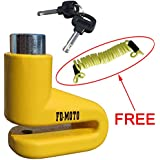 FD-MOTO Security Bike Bicycle Scooter Motorcycle Motorbike Disc Lock + Free Reminder Cable 1.5M
