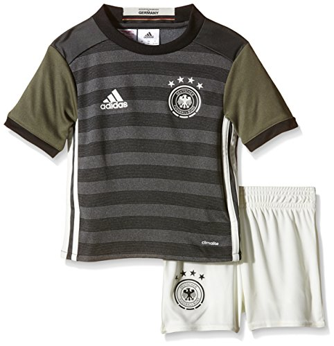adidas Kinder Trikot Set DFB Auswärts Mini, Dark Grey Heather/Off White/Base Green S15/Black, 98, AA0115