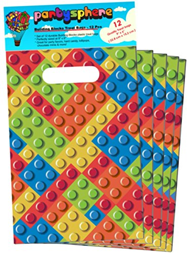 Partysphere Building Block Treat Bags, 12-Pieces