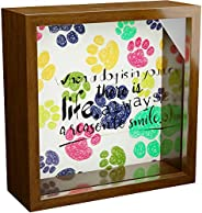 Dog Wall Decor | 6x6x2 Memorabilia Shadow Box | Wooden Keepsake with Glass Front | Great Gifts for Dog Lovers