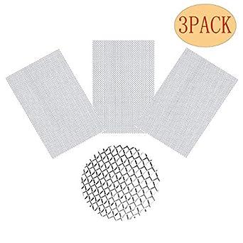 Amazon.com: Paquete de 3 malla de malla de alambre de acero ...
