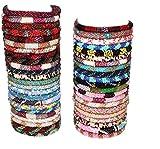 goldenlines 12 Random Mix Crochet Glass Seed Bead Bracelet Nepal Bracelet (ONE Dozen)