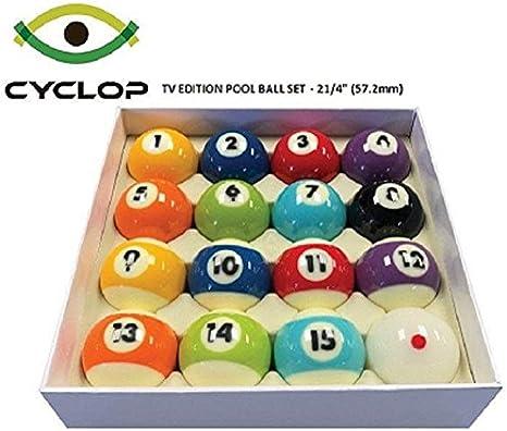Cyclop Zues - Juego de bolas de billar para TV, 2 1/4