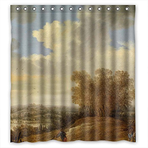 Price comparison product image MaSoyy Polyester Beautiful Scenery Landscape Painting Bathroom Curtains Width X Height / 66 X 72 Inches / W H 168 By 180 Cm Best Choice For Custom Teens Artwork Him Kids. Modern Design