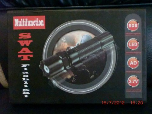 Led Light 3 Watt Luxeon - SWAT multifunction flashlight with Luxeon LED 3 watt bulb, AC adapter and 12V car adapter