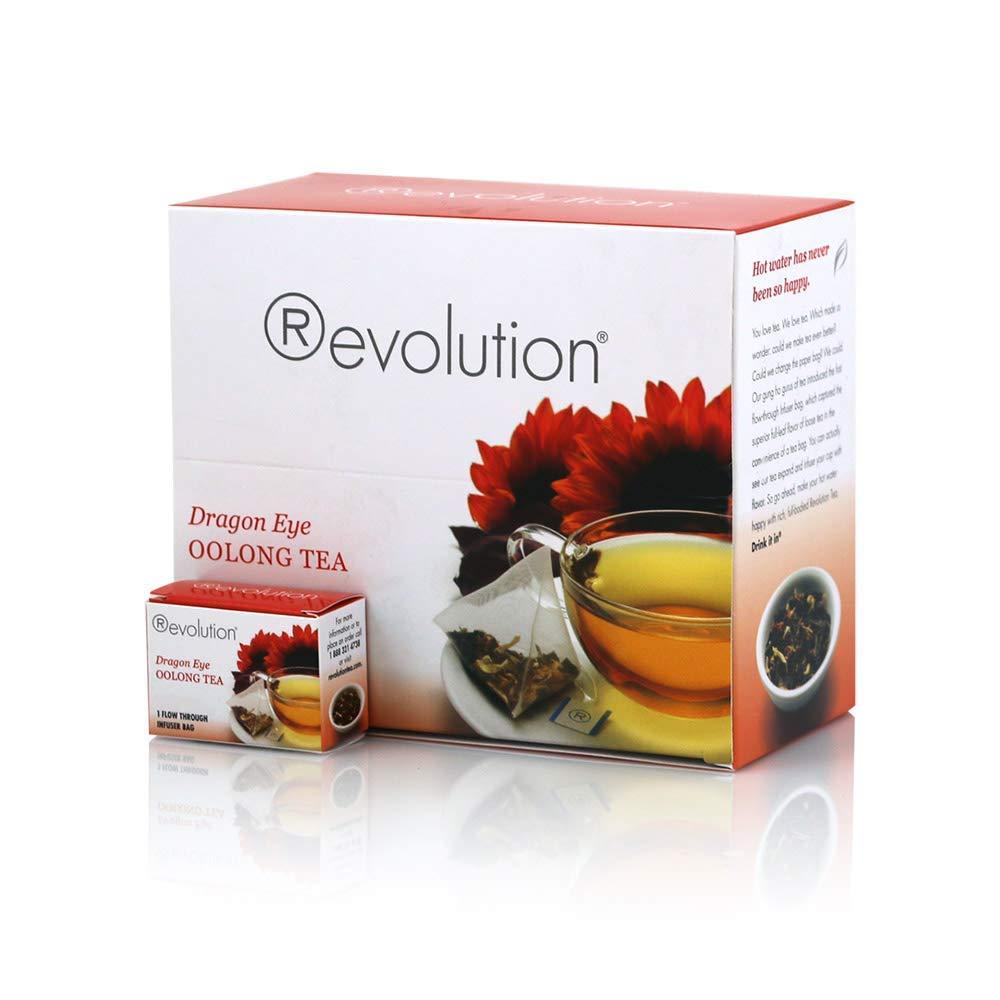 Revolution Tea Dragon Eye Oolong Tea, 30 Count (3 Pack)