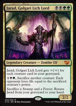 Magic: the Gathering - Jarad, Golgari Lich Lord (223/342) - Commander 2015
