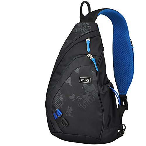 HOLIDAY SALE - Mixi Sling Chest Bag Shoulder Backpack Crossbody Bag Daypack for School Cycling Hiking Camping Sport Travel