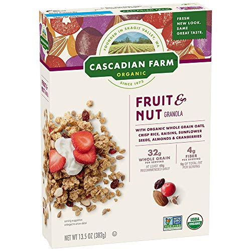 Cascadian Farm Organic Granola, Fruit and Nut Cereal, 13.5 oz (Pack of - Cereal Granola