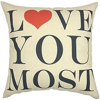 YOUR SMILE LOVE Cotton Linen Square Decorative Throw Pillow Case Cushion Cover 18x18 Inch(44CM44CM) (YS050602)