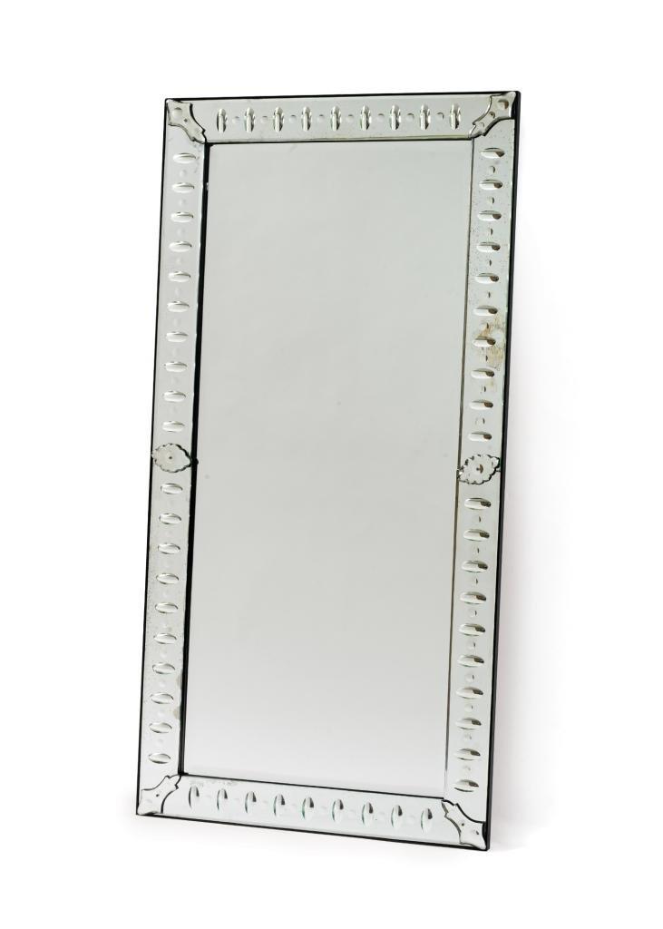 Industrial Vintage Style Venetian Mirror, Silver Metal
