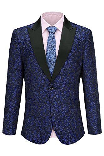 FISOUL Mens Suit Floral Party Dress Suit Stylish Dinner Tuxedo Jacket Wedding Blazer