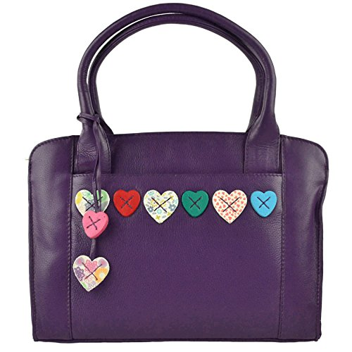 Shoulder Collection Mala By Purple Leather Bag Grab Hearts Handbag Lucy Ladies 0wUZq844