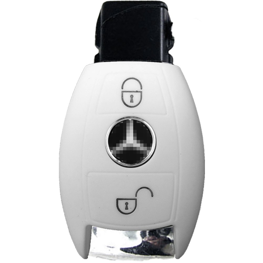 Cubierta de Control Remoto Autom/ático Nicky Rosa Funda de Silicona para Mercedes Benz 2 Botones Llave Keyless Go solamente