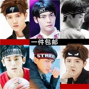 Amazon.com   Headband hair accessories fashion personalized letters Korean  money sports men and women yoga headband headdress headgear headscarf  product ... 19eed106ee9