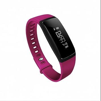 integrada Fitness Tracker Pulso Reloj Tensiómetro de dormir sentada Recuerdo podómetro Distancia contador de calorías para Android iPhone Teléfono Móvil: ...