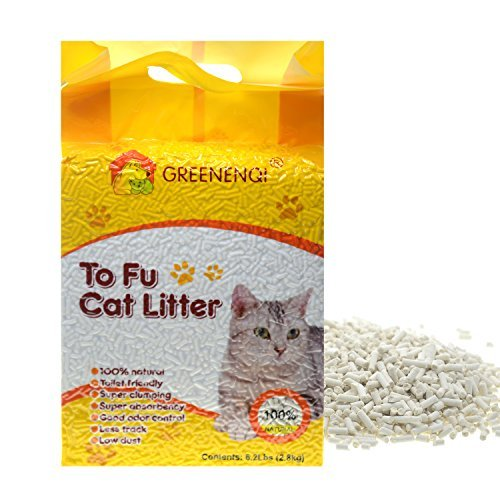 GREENENQI Natural Flushable Unscented Tofu Corn Cat Litter 6.17lbs