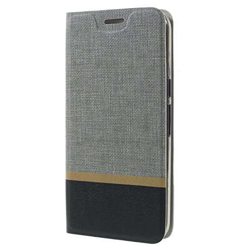 cheaper 3cf33 52e8c Tarkan Luxury Leather Textured Back Stand Flip Case Cover with Card Slot  for Xiaomi Redmi Note 3 [Grey]