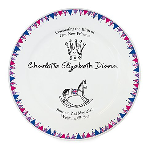 Princess Charlotte Fixed Text Bunting Plate