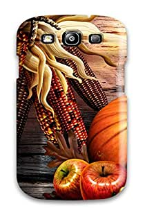 Galaxy S3 Hard Back With Bumper Silicone Gel Tpu Case Cover Thanksgivings