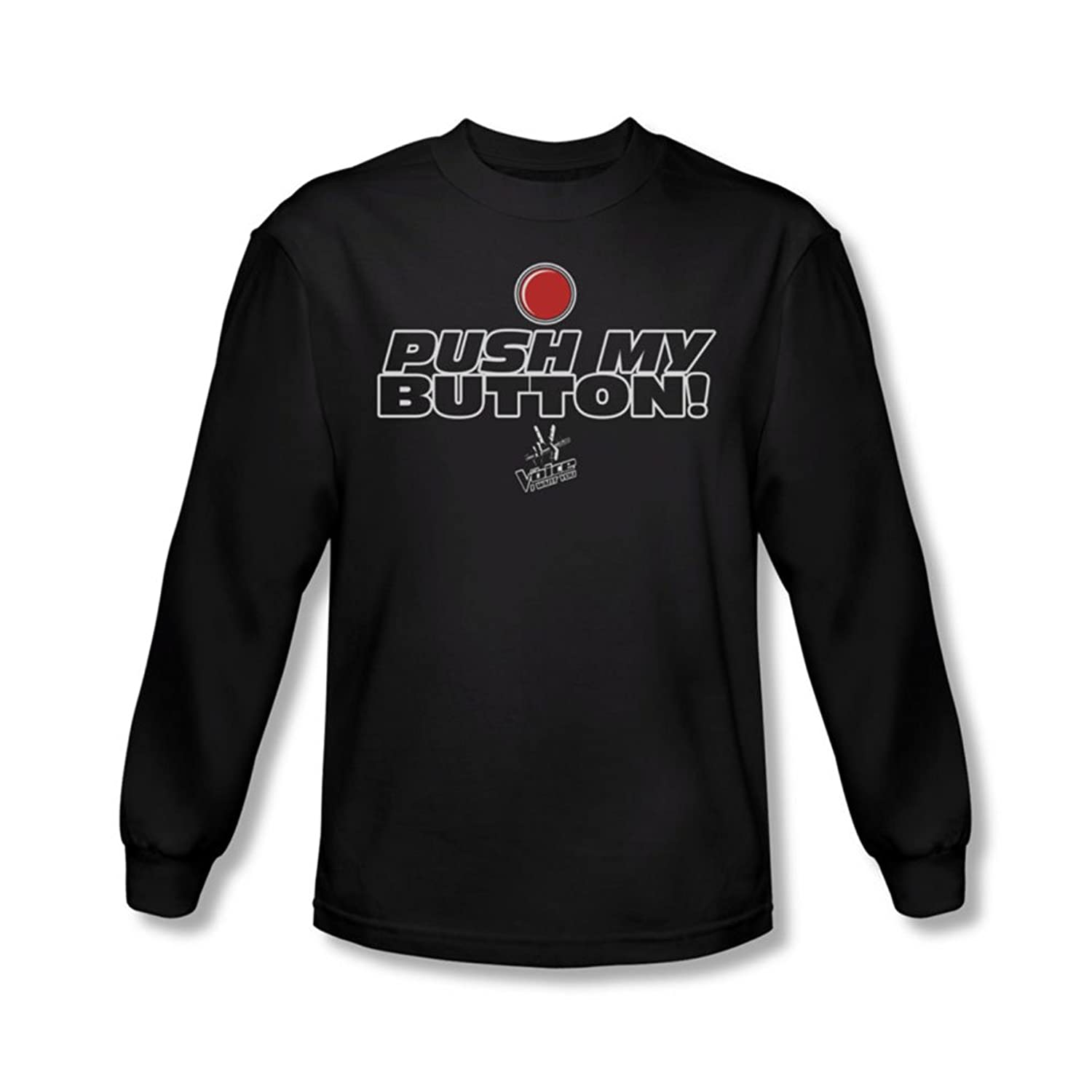 The Voice - Mens Push My Button Long Sleeve Shirt In Black