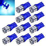 Trunk Lights - Aucan Super Bright 194 921 168 2825 W5W T10 Wedge 30-SMD 3014 Chipsets LED Replacement Bulbs for 12V Car Interior Dome Map Door Courtesy Trunk License Plate Lights Blue (pack of 10)