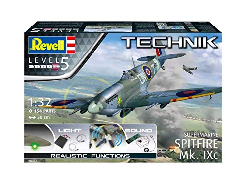 Revell RV00457 Supermarine Spitfire Mk.IXc-Technik Model Kit with Electronics, Unpainted 2