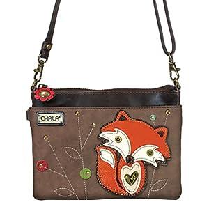 Chala Mini Crossbody Handbag, Multi Zipper, Pu Leather, Small Shoulder Purse Adjustable Strap, Safari Bear – Sand