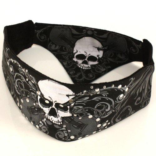 Chop Top Bandana Head Doo Wrap Scarf Biker Rocker Skull