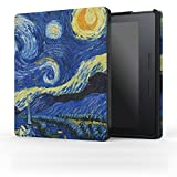 MoKo Case for Kindle Oasis (8th Generation, 2016 Released Only) - Premium Ultra Lightweight Shell Cover with Auto Wake / Sleep for Amazon 6 inch Kindle Oasis E-reader Case, Starry Night
