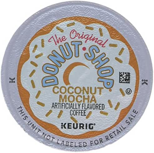The Original Donut Shop Keurig Single-Serve K-Cup Pods, Coconut Mocha Medium Roast Coffee, 72 Count (6 Boxes of 12 Pods)