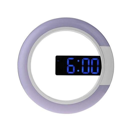 FPRW Alarma de Reloj de Mesa Digital LED 3D, Reloj de Pared Hueco ...