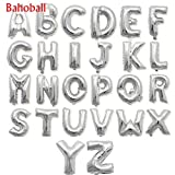 Weeball 1Pcs Silver Letter Balloons Alphabet Aluminum Foil Air Balloon Birthday Party Supplies Grapheme Advert Air Balloon Globos Ballon P Silver