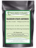 Magnesium Citrate Anhydrous - Natural USP TriMagnesium Citrate Water Soluble Powder - 16% Mg, 55 lb
