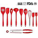 Mysj Kitchen Silicone Utensil Set,Heat-Resistant 446°F,10Piece Spatula Spoon Baking Cooking Gadgets