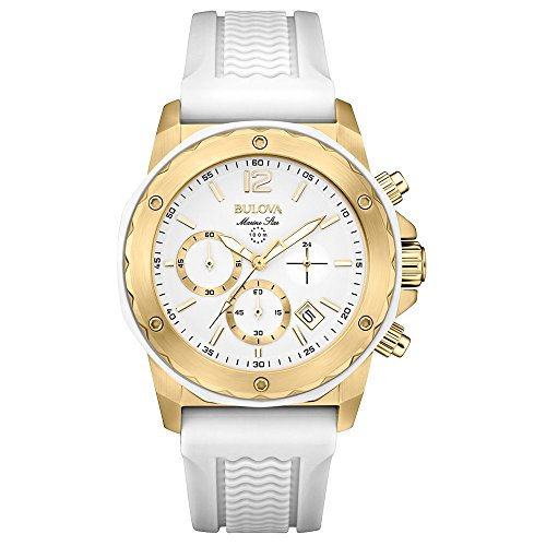 Bulova 98M117 Ladies Marine Star White Chronograph Watch ()