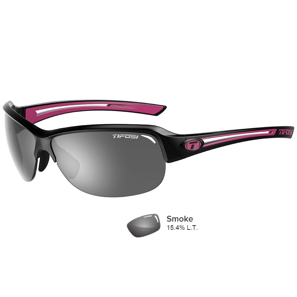 Tifosi Mira Single Lens Sunglasses, Black/Pink