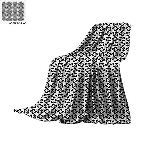 iber All Season Blanket Flower Leaves Shaped Wind Wheels in Modern Tones Classic Artistic Pattern Summer Quilt Comforter 60