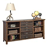 Heritage Storage Credenza - 70''W Rough Sawn Hickory Laminate Finish Dimensions: 70''W x 18''D x 34''H Weight: 234 lbs