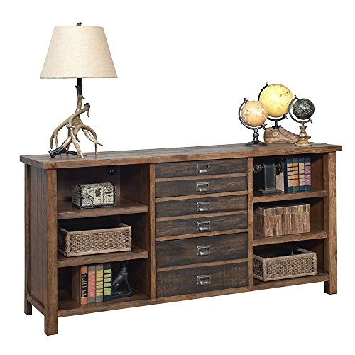 Heritage Storage Credenza - 70''W Rough Sawn Hickory Laminate Finish Dimensions: 70''W x 18''D x 34''H Weight: 234 lbs by Martin Furniture