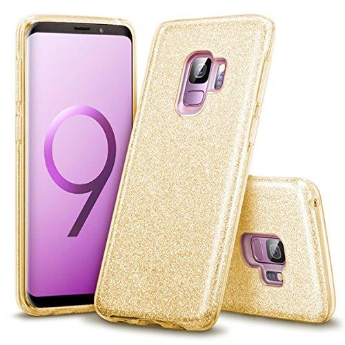 Cubierta de S9 oro Bling delgada Glitter parachoques ultra Funda protectora Plus lujo S9 S9 Plus de Samsung S9 protectora protectora para Adamark rosa de Galaxy Galaxy silicona Funda aFqv7w5