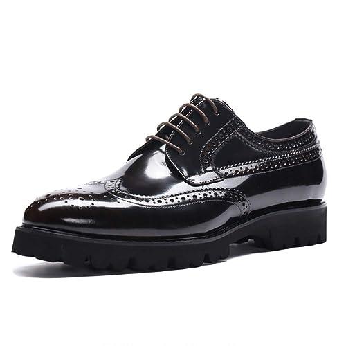 Zapatos Oxford Hombres Suelas De Goma De Color Marrón con ...