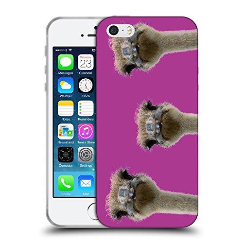 GoGoMobile Coque de Protection TPU Silicone Case pour // Q05530621 3 autruches bizantino // Apple iPhone 5 5S 5G SE