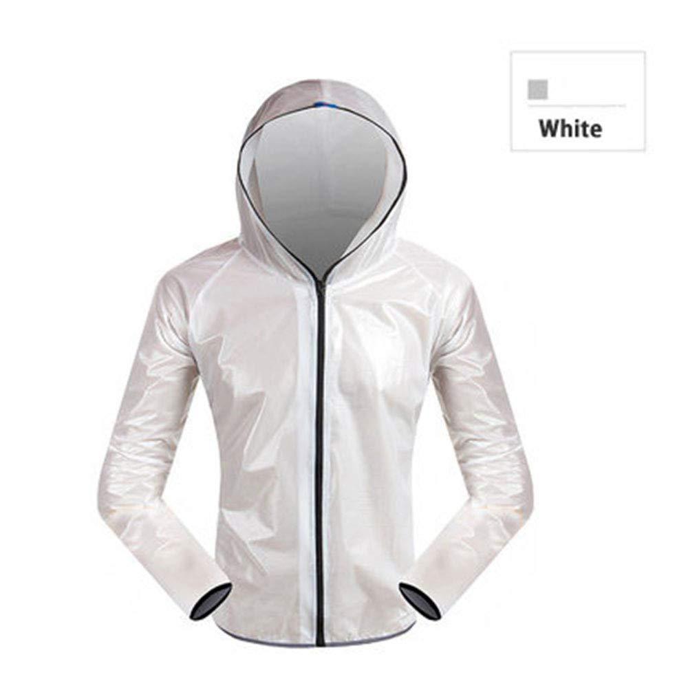 B Medium Outdoor Bike Raincoat Cycling Jersey Waterproof Windproof Outerwear Hiking Bike Bicycle Rain Jackets Jersey Cycling Cloth,E,L