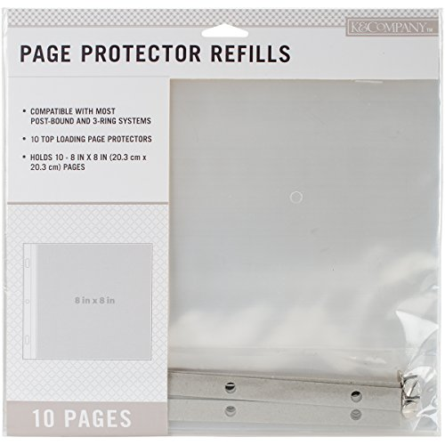 K&Company 30-706057 Post Bound Scrapbook Album Page Protector Refill Pack, Multicolor ()