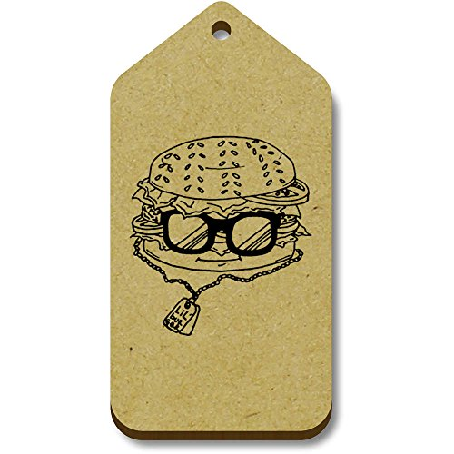 Price comparison product image 10 x 'Burger Character' 66mm x 34mm Gift / Luggage Tags (TG00005459)